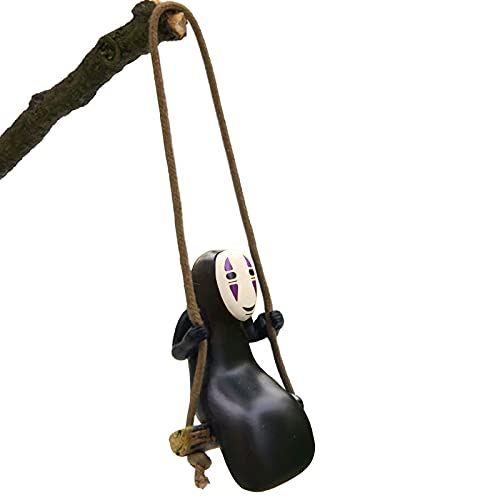 Anime Car Accessories of No Face Man Car Pendant Hanging Swing,for Car Rear View Mirrior...