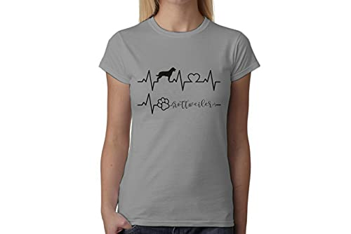 t-shirteria Tshirt electrocardiógrafo Rottweiler–I Love Rottweiler–Perros–Dog–Love–Humor–Tshirt simpatiche y Divertidos