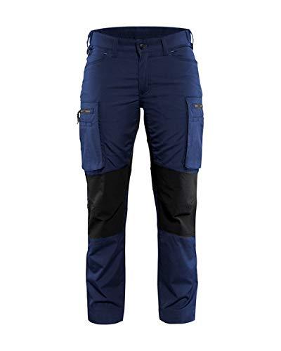 Dames Service werkbroek Stretch Armygroen/zwart C30 C32 Marineblau/Schwarz