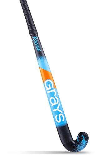 GRAYS Rogue Ultrabow Micro Junior Hockeyschläger – Schwarz & Blau – Neu für 2020/2021 (34)
