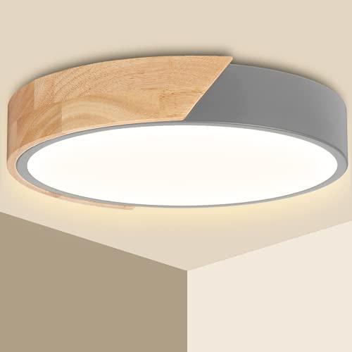 Plafonnier LED 24W Ketom Lampes de Plafond Blanc Chaud 3000K 2400LM Moderne Luminaire Plafonnier Rond Intérieur Lampe Plafond, Pour Salon, Chambre, Cuisine, Couloir, Entrée, Ø30*5cm