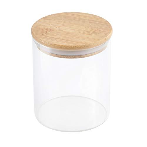 HEMOTON Recipiente de Vidrio Sellado 750Ml Productos Secos Frasco Hermético Botella de Almacenamiento de Hoja de Té Suelta Nueces de Cocina Pasta de Granos en Polvo Contenedor de