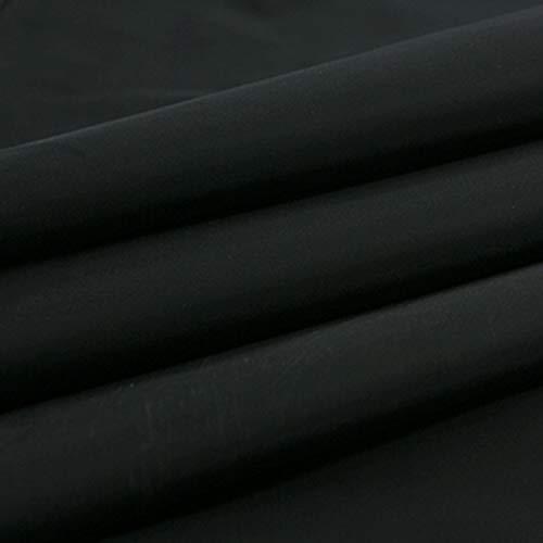 moonfarm 全16色 ナイロン 生地 エコ バッグ 制作 撥水 約 2m×1.5m (ブラック)
