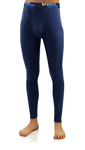Sesto Senso Calzoncillos Largos Algodón Pantalón Térmico Hombre (M, Azul Oscuro)