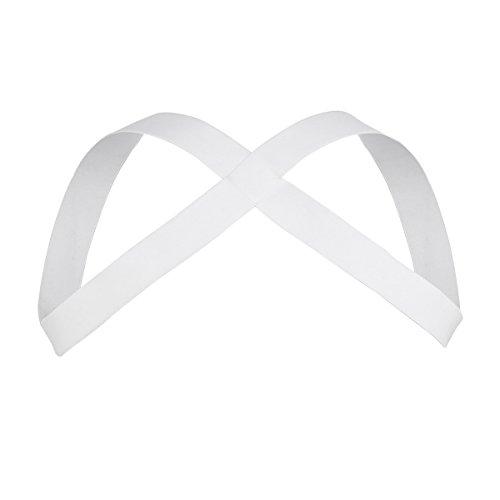 Freebily Gothic Men Lingerie Elastic Nylon Body Chest Harness Clubwear Costume White Nylon One Size