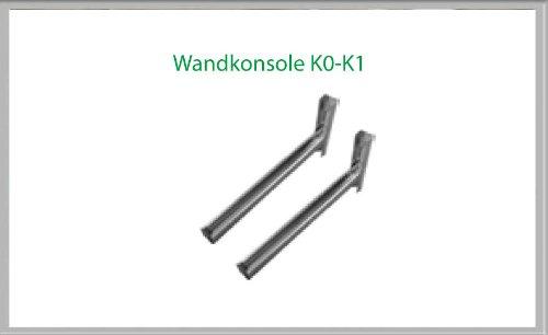 Consola de pared K1 490 mm para chimenea conjuntos de 200 mm