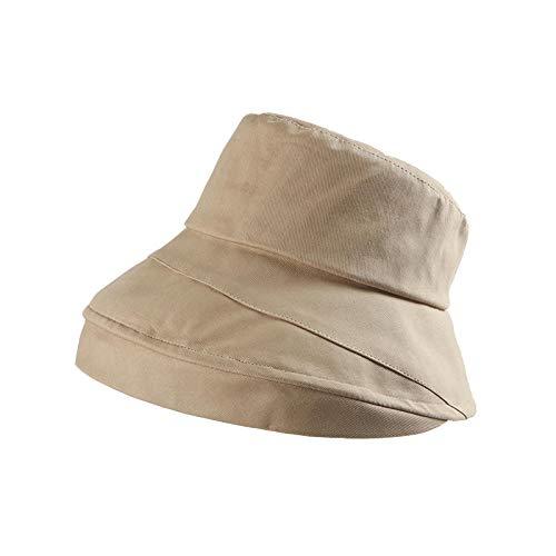 Vishoed voor de zomer, voor dames, Koreaanse zee, zonnebescherming, Japanse zonwering, UV-bescherming, zonnehoed voor wastafels One size (56-58cm) grey