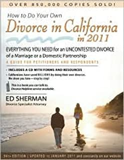 How to Do Your Own Divorce in California in 2011 Publisher: Nolo Press Occidental; 34th edition