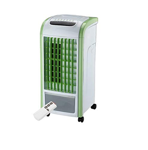 Home 4 in 1 LuftküHler Luftbefeuchter Mobiles KlimageräT Mit Entfeuchtung Mobile Klimaanlage Klima Ventilator Luftreiniger Anlage Air Cooler(Grün,Schwarz, 1X air Conditioner Cooler) TWBB