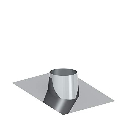Edelstahlschornstein Schornstein Einzelteil doppelwandig Ø100mm Innendurchmesser 25mm Isolierung 0,5mm Materialstärke (Dachdurchführung Flachdach 6-15°)