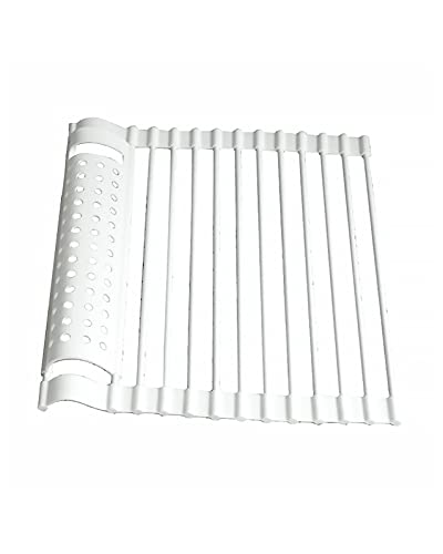 SXGKYY Kitchen Drying Rack Kitchen Dish Drying Rack over Sink Roll-Up Drains Dry Fruits Vegetable Sink Folding Rack
