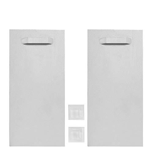 Haftbleche / Spiegelaufhänger SET (+ Abstandhalter), ZHB000131, 100 x 200 mm, bis zu 24 Kg Tragkraft, Aufhänger für Spiegel, Glasbilder, Alu-Dibond. selbstklebend