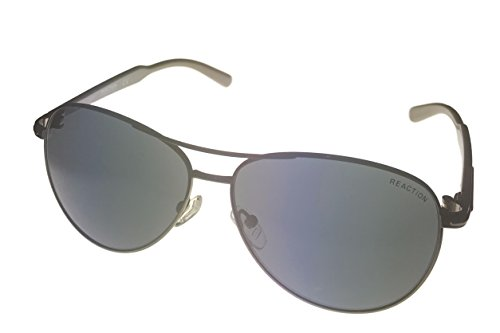 Kenneth Cole Reaction Half Rimless Aviator Sunglasses, White/Smoke Gradient