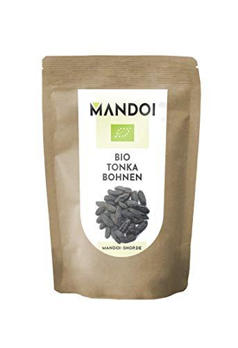 Mandoi BIO Tonkabohne ganz, 50g. Premium BIO Tonkabohnen aus Brasilien. Tonka Bohne Gin Gewürze
