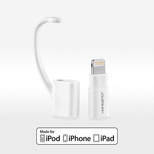 iPhone Charger, HomeSpot Micro USB to 8 pin Lightning Adapter Converter with Tether Keeper Sleeve, Apple MFi Certified for iPhone 7 Plus 6s Plus 6 Plus 5 5s 5c, iPad Mini Air Pro iPod Touch (White)