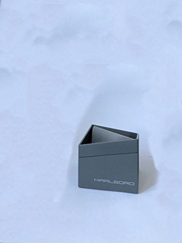 Marlboro Design Aschenbecher eckig grau Metall