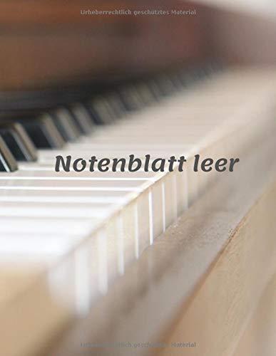 Notenblatt leer: Leeres Notenblatt Papier, Notenblatt Leer Klavier, music notebook