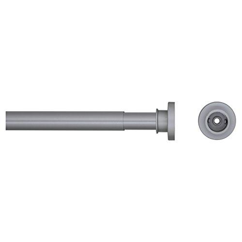 Sealskin Teleskop Duschvorhangstange, Klemmstange aus Aluminium 80 - 130 cm, Farbe: Chrom matt, Durchmesser 28 mm, Montage ohne Bohren