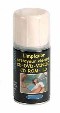 Líquido Limpiador Spray Multiusos para Discos de Vinilo, CD y DVD/Ref.2593