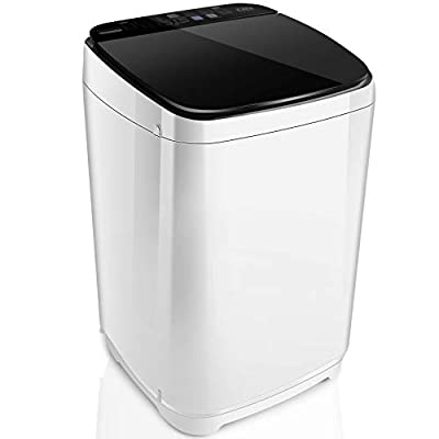 Full-Automatic Washing Machine Nictemaw Portable Washer Machine 1.48 Cu.ft/13.6Lbs Capacity Laundry Washer Spin Dryer, 10 programs Selections with LED Display Ideal for Home/Apartments/Dorms/RV