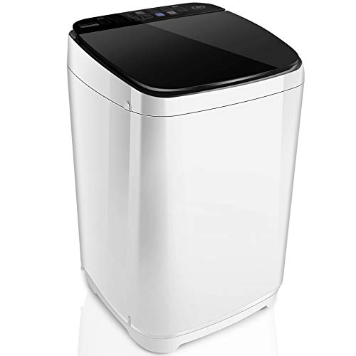 Nictemaw Portable Washer Machine Full-Automatic Washing Machine 1.48 Cu.ft/13.6Lbs Capacity Laundry Washer and Spin Dryer, 10 programs Selections with LED Display Ideal for Home/Apartments/Camping/RV