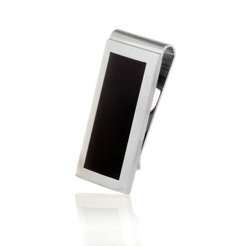 Karisma pince à billets pour homme en acier inoxydable avec revêtement noir mat-clip-mC10.003 money
