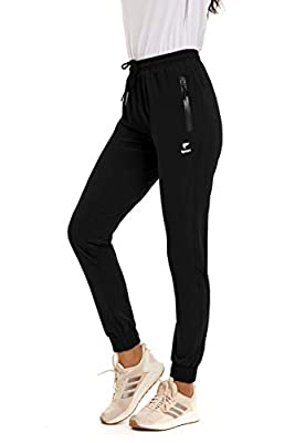 GOLDPKF Drawstring high Waisted Workout Pants for Women Outfits Active wear Skinny fit Summer Pants Womans Soft Baseball Cool Pants with 2 Pockets Black XXL