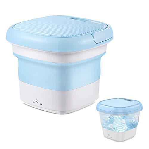 Mini máquina de Lavado Lavadora portátil Plegable con Generador de Ozono La tasa de esterilización Puede alcanzar el 99.26% Adecuado para Hogar Viaje Desinfectar de Ropa Interior (Azul)