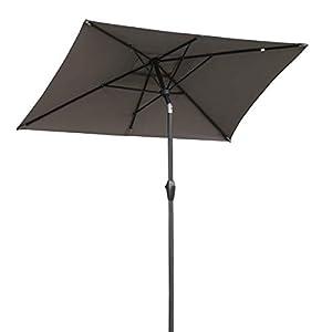 Sekey® 210x140cm Parasole Ombrellone Balcone Esterno da Giardino Protezione UV 50+ Marrone Rettangolo