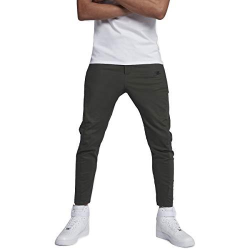 Nike Sportswear Bonded Men's Pants (Sequoia/Black, 36)