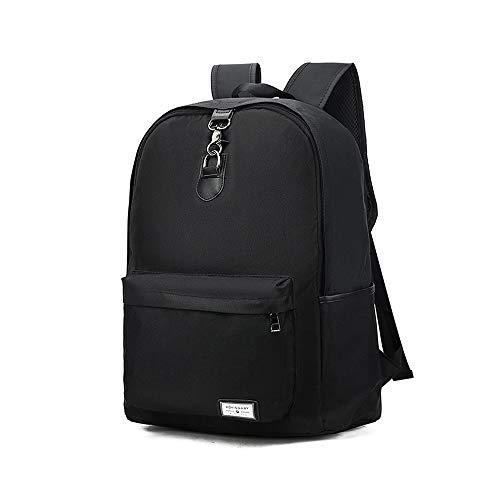 USB充電バックパックショルダーバッグレジャーバックパックの外クライミングバックパックバックパッキング大学生 丈夫な (Color : Black, Size : L)