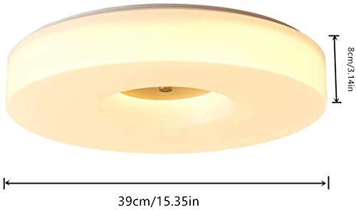 ZHFZD Plafondlamp, rond, drie kleuren, moderne lamp in drie tinten voor kinderen, van koper, creatief, modern, voor slaapkamer, keuken, 39, Kleur: zwart/bruin,