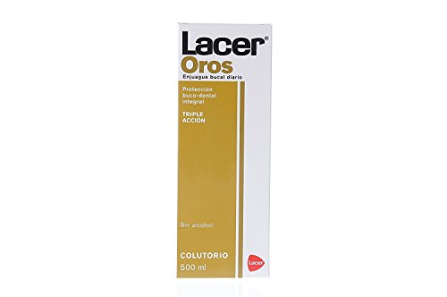 LACER LABORATORIOS SA - Oros colutorio, Enjuague dental, 500 ml, Negro (2600836)