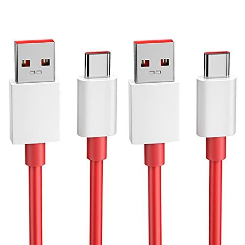 WFS Alta Velocidad 2 Paquete USB C Cable 5A (MAX) USB A Tipo C Cable de Carga C Tipo C Cable de Cargador Cargo RÁPIDO para USB C Cargador No se enredará (tamaño : 1.5M)