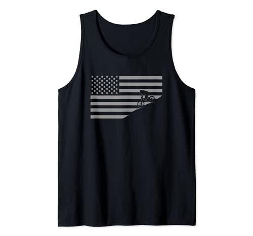 Mountainbikebekleidung mit amerikanischer Flagge, Mountainbike Tank Top