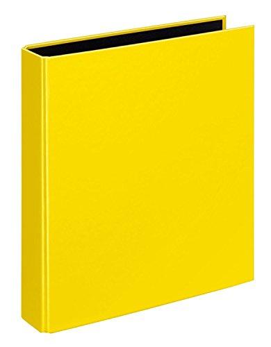 Veloflex 1151310 Ringbuch VELOCOLOR, Ringordner, Ordner, DIN A5, 2-Ring-Mechanik, 200 x 230 x 45, Karton, gelb