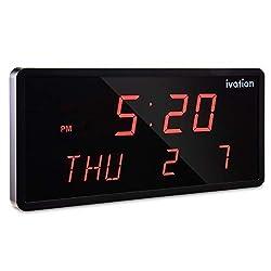 Desk & Table Clocks Electric Desktop Clock Electronic Alarm Digital Big Led Screen Clock Data Time Calendar Desk Watch