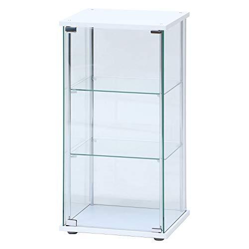 SIMCT ガラスコレクションケース 3段 幅42.5 高さ90cm ホワイト 97300