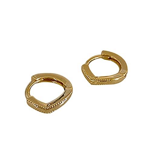 Qingxin Un par de pendientes S925 plata mini geométrico personalizado oído Stud joyería regalo para niñas