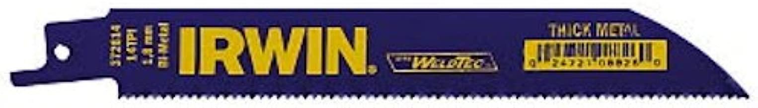 IRWIN Reciprocating Saw Blades, Metal Cutting, 6-inch, 14 TPI, 25-Pack (372614B)