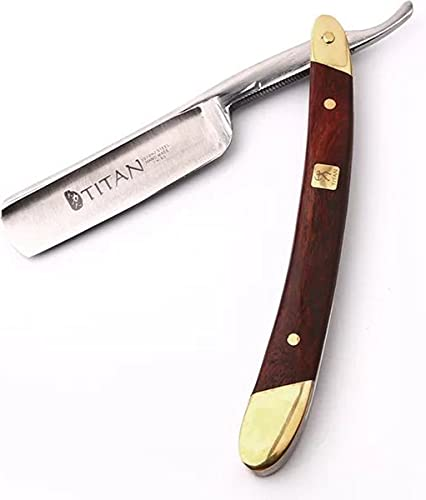 Titan Straight Razor Hoog Kwaliteit - Scheermes Klassiek - Luxe scheermes - Shavette - Scheermes Barbiersmes - Nekmes - klapmes - kappersmes