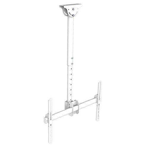 Xantron DEHA-946S-W - Supporto da soffitto per TV da 37-70', orientabile, girevole, regolabile in altezza, colore: Bianco