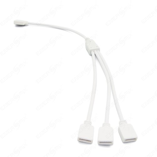 Preisvergleich Produktbild 4 Pin Verteiler Verbindungskabel LED Beleuchtung Streifen Verbindungskabel Teiler Adapter Kabel Connector für RGB / Weiß (1 zu 3 Verteiler Verbinder