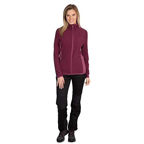 Trespass Kelsay, Giacca in Pile Donna, Fico, XXL