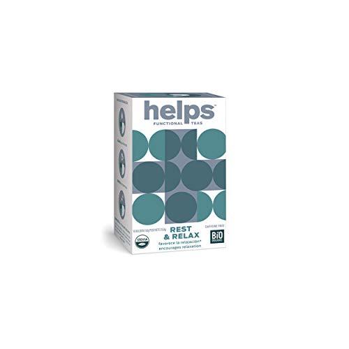 HELPS INFUSIONES - Infusión Relajante Con Melisa, Pasiflora Y Stevia. Te Relax Que Combate La Ansiedad Para Descansar Mejor. Helps Relax. Caja De 16 Bolsitas.