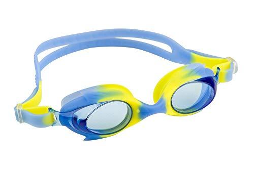 maru Unisex-Youth AG5617 Schwimmbrille, Blau/Gelb, Einheitsgröße