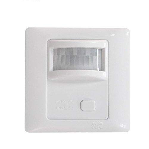 MERIGLARE Interruptor de Luz de Techo de Pared con Sensor de Movimiento Infrarrojo PIR de 12V 360 ° Encendido/Apagado Automático