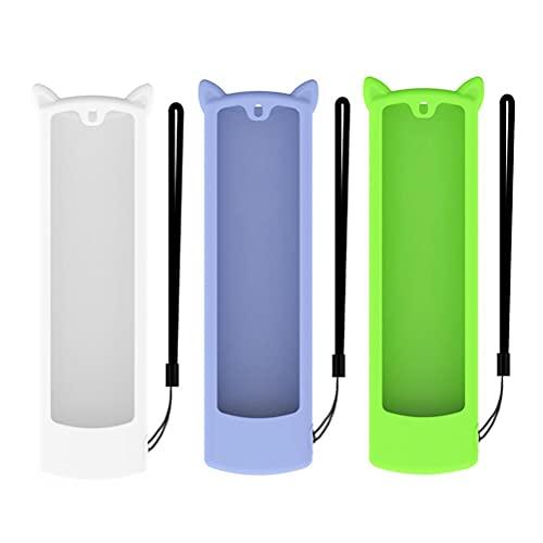 Dan&Dre Pack de 3 carcasas de silicona compatibles con Voice Remote Portable Fire TV Stick para mando a distancia de 3ª generación