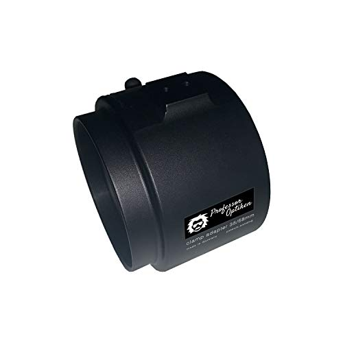 Professor Optiken Klemmadapter M52x0,75 mm für Zieloptik/Zielfernrohr BZW. Vorsatzgerät (Wärmebildkamera/Nachtsuchtgerät) - 58 mm - in Deutschland hergestellt - robust & schussfest
