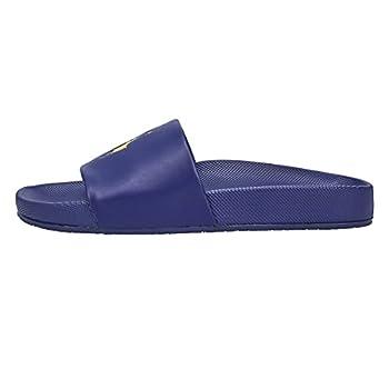 Polo Ralph Lauren Men s Cayson Slide Sandal Newport Navy/Gold PP 10